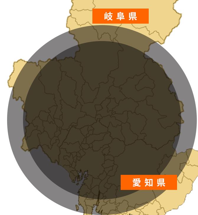岐阜の対応可能エリア地図