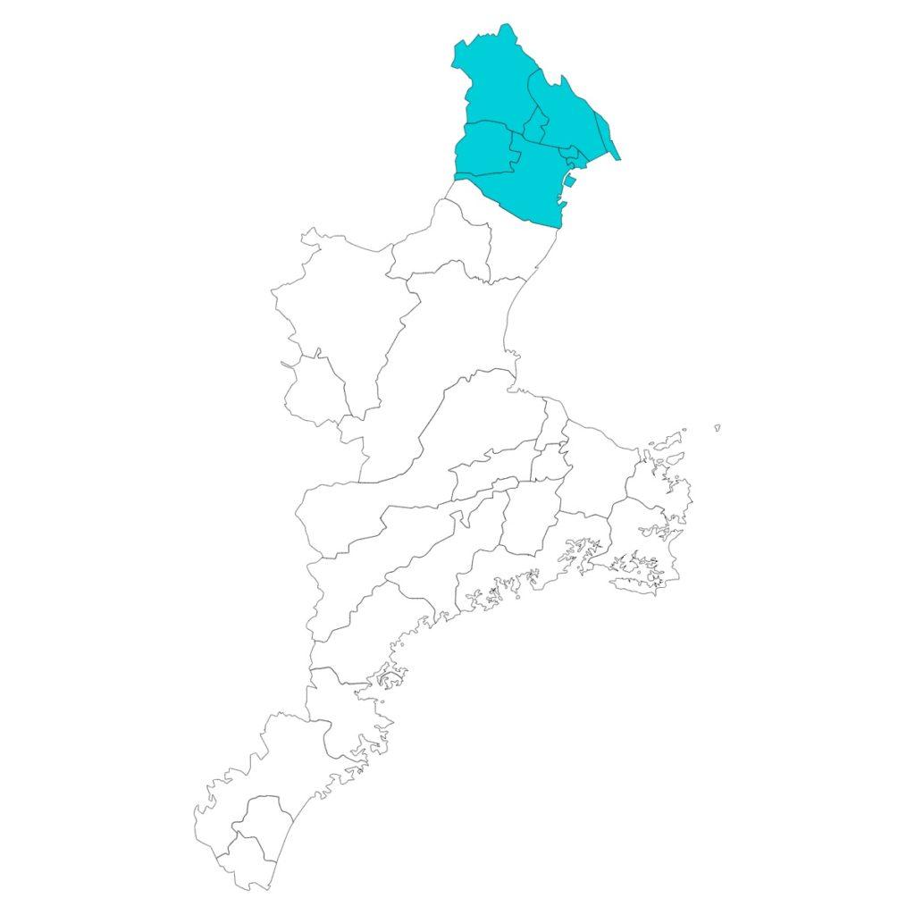 三重県のアンテナ工事対応エリア