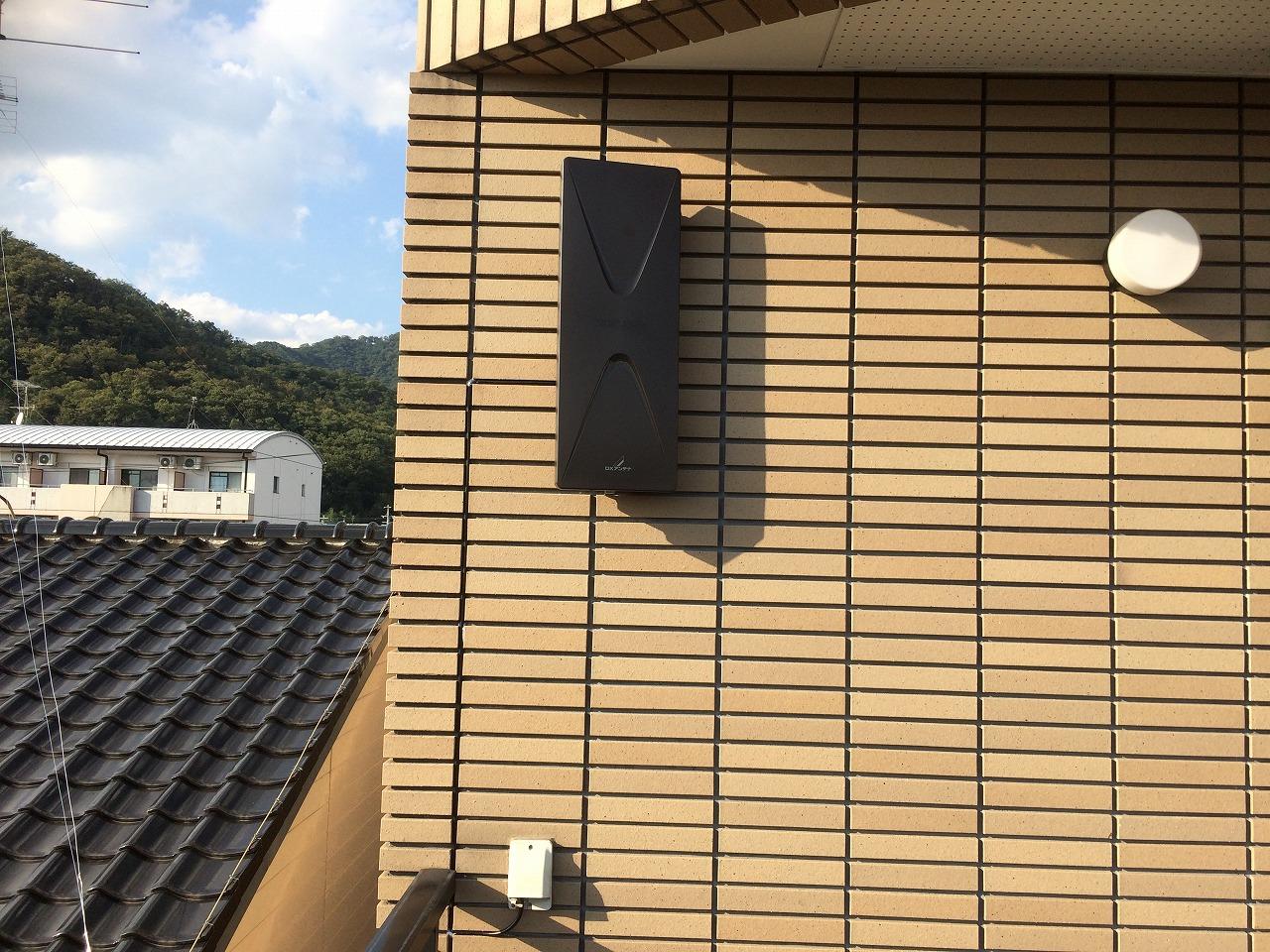 岐阜市:3階建てタイル張り住宅にアンテナ工事
